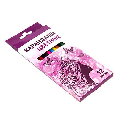 228-029 Карандаши для рисования, 12 цветов, заточенные, ФЭНТЕЗИ
