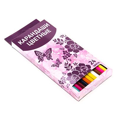 228-031 Карандаши для рисования, 24 цветов, заточенные, ФЭНТЕЗИ