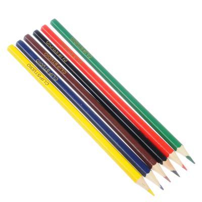 228-046 Цветные карандаши, 6 цветов, заточенные, ДЖУНИОР ФУТБОЛ