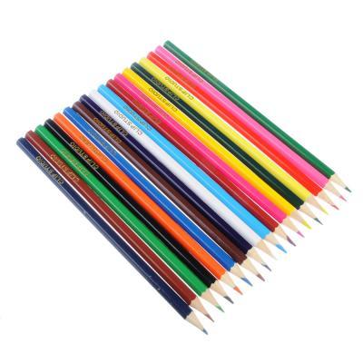 228-048 Цветные карандаши, 18 цветов, заточенные, ДЖУНИОР ФУТБОЛ