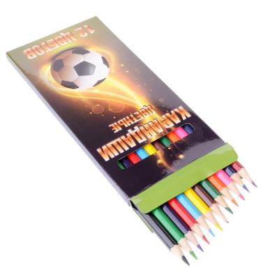 228-054 Цветные карандаши, 12 цветов, заточенные, СПЕЙС ФУТБОЛ