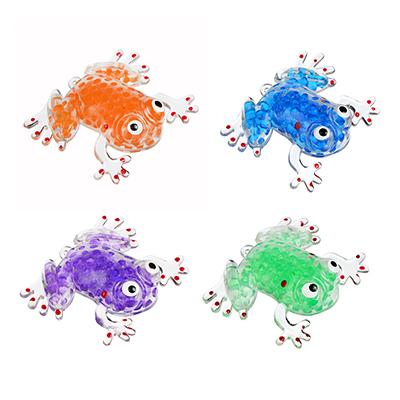 297-028 Мялка в виде Лягушки с шариками, резина, 8,5х7х1,3см, 4-6 цветов