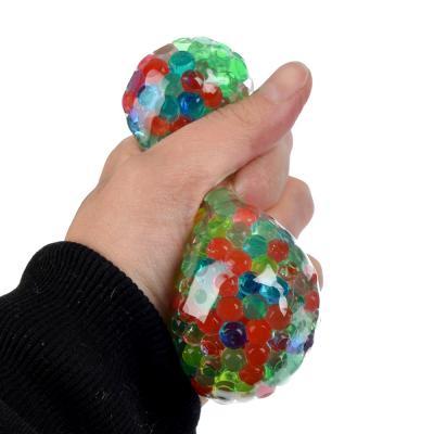 297-030 Мялка в виде Мяча с шариками, резина, 6х6х6см, 6 цветов