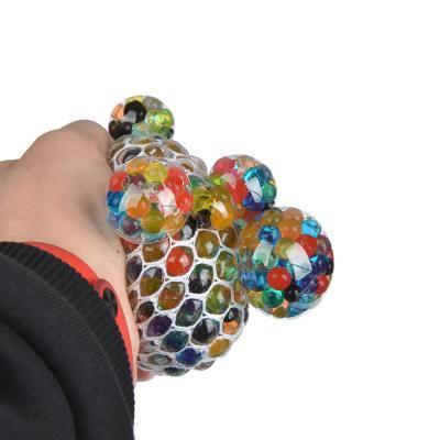 297-031 Мялка с шариками, резина, 7х7х7см, 6 цветов