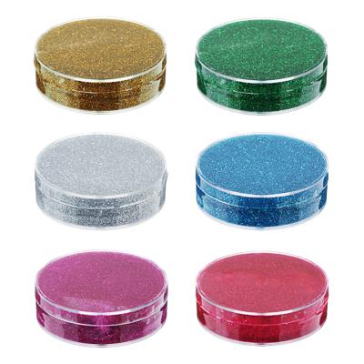 218-015 Лизун твердый с блестками 50гр., полимер, 7х7х2см, 6 цветов