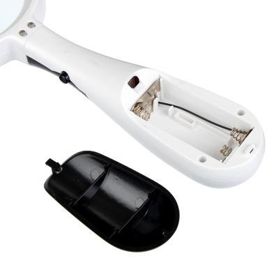309-014 Лупа с 4-х кратным увеличением с LED-подсветкой, d6,5см, пластик, стекло