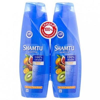 937-046 Набор Шампунь Шамту Питание и сила с экстрактами фруктов, 2* 380 мл