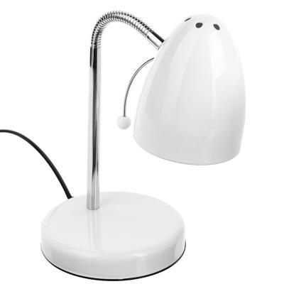 417-103 Лампа настольная с выкл. 100 см, 60W, H34 см, 220V, E27, металл, белый