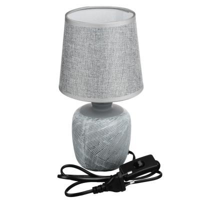 Лампа настольная 27,5см, E14, 40 Вт, 220-240В, керамика, текстиль, 3 цвета-4
