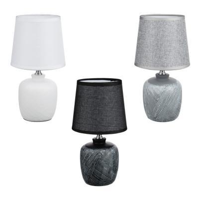 Лампа настольная 27,5см, E14, 40 Вт, 220-240В, керамика, текстиль, 3 цвета-5