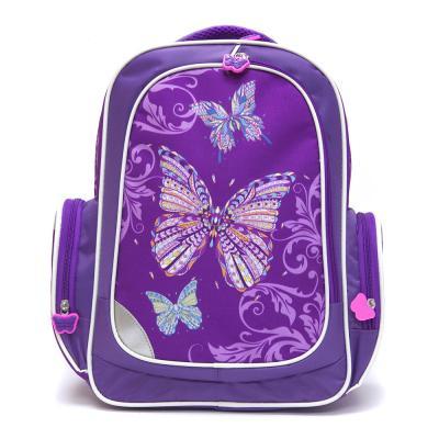254-124 Рюкзак школьный для девочки, 38x32x18 см, КРЫЛАТЫЕ ЦВЕТЫ-2