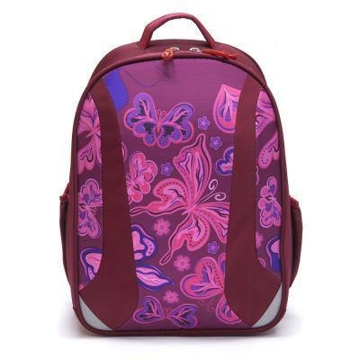 254-133 Школьный рюкзак для девочки, 38x30x20см, жесткий каркас, СПЕЙС КРЫЛАТЫЕ ЦВЕТЫ