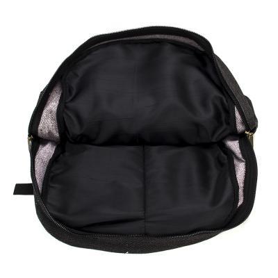 254-136 Рюкзак подростковый, 42x31x16см, ткань холст, серый