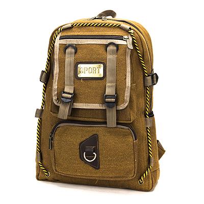 254-137 Рюкзак подростковый, 42x31x16см, ткань холст, песочный