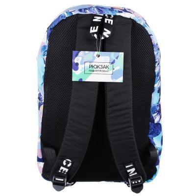 254-140 Рюкзак 45x32x15 см с 1 отделением, нейлон, с рисунком