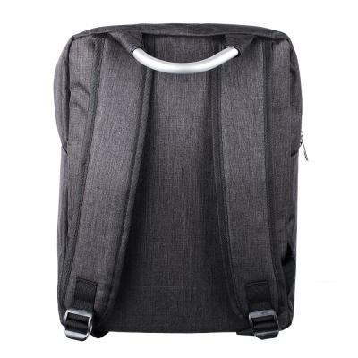 """254-143 Подростковый рюкзак, 1 отд., накладной карман, метал.ручка, полиэстер """"под ткань"""", черный, 42x30x15"""