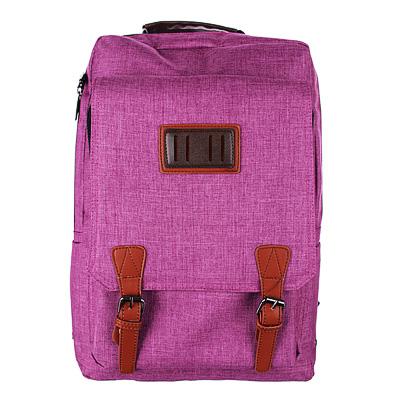 254-146 Рюкзак подростковый, 42x28x17см, клапан на 2 кнопках, накладной карман, сиреневый