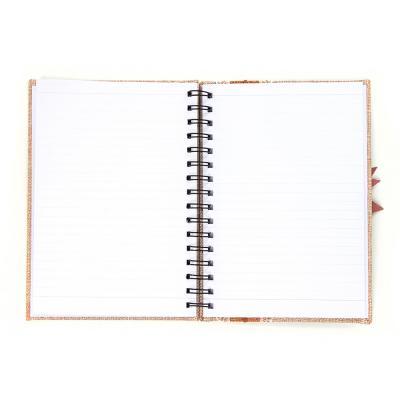 576-008 Записная книжка с объемной аппликацией А5 100л., тв.обложка, бежевая, бумага, полиэстер, пластик