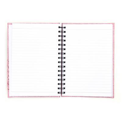576-009 Записная книжка с объемной аппликацией А5 100л., тв.обложка, розовая, бумага, полиэстер, пластик