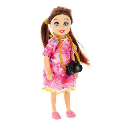 267-720 Маленькая куколка в нарядном платье 13см, пластик, полиэстер, 4х13х2,5см, 4 дизайна