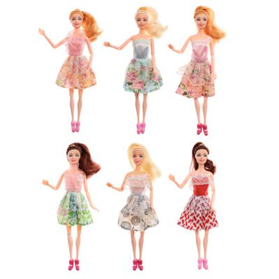 267-728 Кукла шарнирная в одежде, 29см, пластик, полиэстер, 6 дизайнов