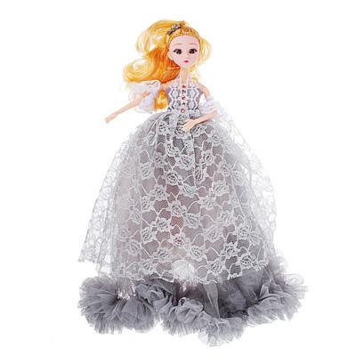 267-737 Кукла в пышном наряде, шарнирная, 30см, пластик, полиэстер, 4-6 цветов