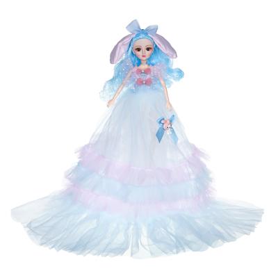 267-741 ИГРОЛЕНД Кукла в пышном свадебном наряде, 30см, пластик, полиэстер, 4-8 цветов