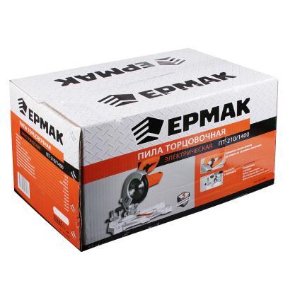 692-008 ЕРМАК Пила торцовочная ПТ-210/1400, 1400Вт, 210х30 мм, 5000об/мин, 55мм, 120 мм