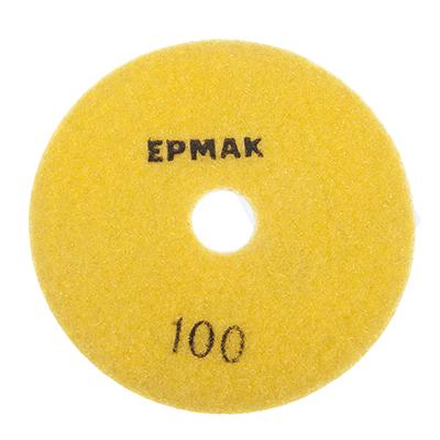 """645-187 ЕРМАК Круг алмазный, гибкий шлифовальный, полировальный """"Черепашка"""" 100мм №100"""
