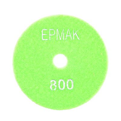 """645-190 ЕРМАК Круг алмазный, гибкий шлифовальный, полировальный """"Черепашка"""" 100мм №800"""
