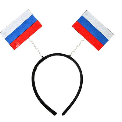 """528-256 Ободок болельщика, """"Россия"""", пластик"""