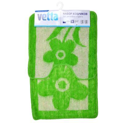 462-640 VETTA Набор ковриков 2шт для ванной и туалета, акрил, 50x80см + 50x50см, эконом 4