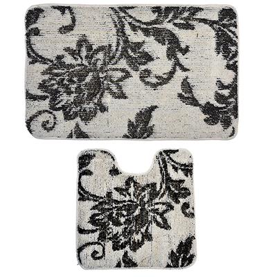 462-641 VETTA Набор ковриков 2шт для ванной и туалета, акрил, 50x80см + 50x50см, эконом 5