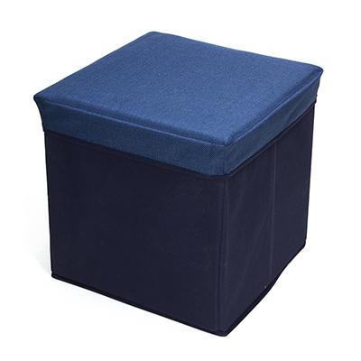 465-204 Пуфик складной, ПУ, спанбонд, картон, 31х31х31см, до 80 кг, синий