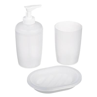 048-001 Набор для ванной, 3 предмета, пластик