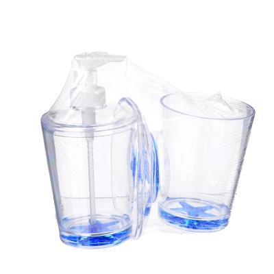 048-005 Набор для ванной, 3 предмета, пластик, SonWelle ЗВЕЗДА