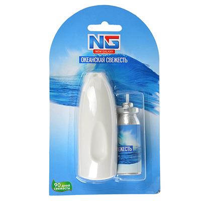 778-053 Ароматизатор воздуха микро-спрей, аромат океанская свежесть, NEW GALAXY