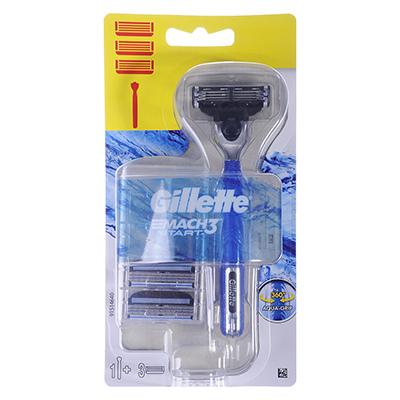 948-006 Станок для бритья Gillette Mach3 start с 1 кассетой+2 сменные кассеты для бритья, арт.81655033