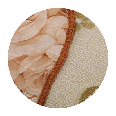 479-219 VETTA Скатерть виниловая тиснёная с каймой, 110х140см, розы беж