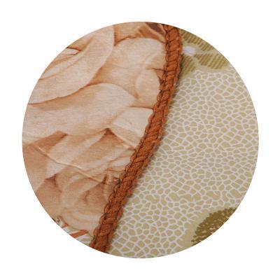479-227 VETTA Скатерть виниловая тиснёная с каймой, 137х137см, розы беж