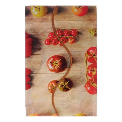 479-230 VETTA Скатерть виниловая тиснёная с каймой, 137х137см, овощи