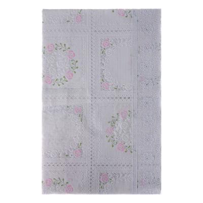 479-231 VETTA Скатерть ажурная 110x140см резная розовый цветок