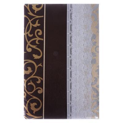 479-233 VETTA Скатерть виниловая с каймой, 137x182см, полосы, престиж