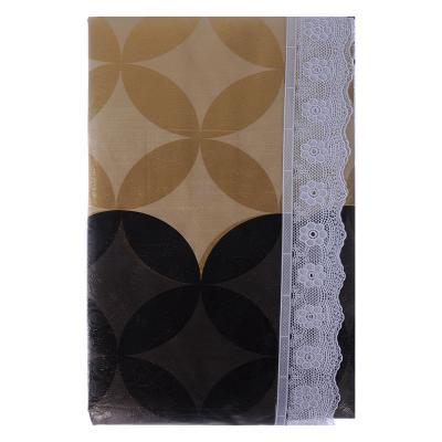 479-236 VETTA Скатерть виниловая тиснёная с каймой, 152х228см, Орнамент