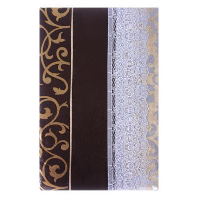 479-241 VETTA Скатерть виниловая тиснёная с ажурной каймой, d137см, полосы престиж