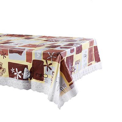 479-255 VETTA Скатерть виниловая с ажурной каймой, 137x182см, Чаепитие