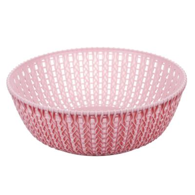 406-135 Корзинка вязаная круглая, пластик, 22х8 см, VETTA