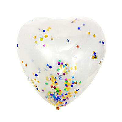 """518-045 Шар воздушный с наполнителем конфетти, в виде сердца, 80"""""""