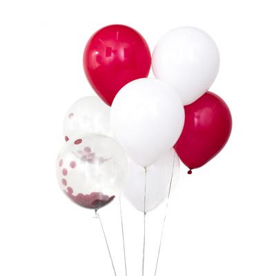 """518-046 Набор воздушных шаров, с наполнителем конфетти, 10шт, 12"""", 4 дизайна"""