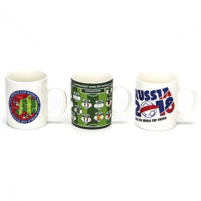 806-261 ЧМ по футболу Кружка, 380мл, керамика, 3 дизайна, подар. упак.